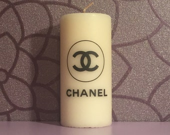 Chanel Logo Candle (Vanilla Scented)