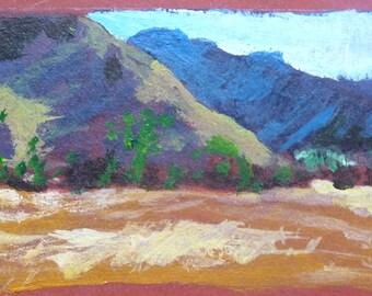 Mountain scene 3.25 x 2 inches