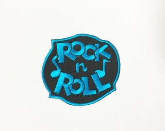 Rock n Roll Iron on Patch