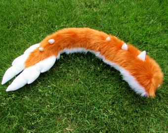 Fluffy Furry Cosplay Angel Dragon Tail Any Color Fursuit Tail Fleece Feathers Extra Soft Cute
