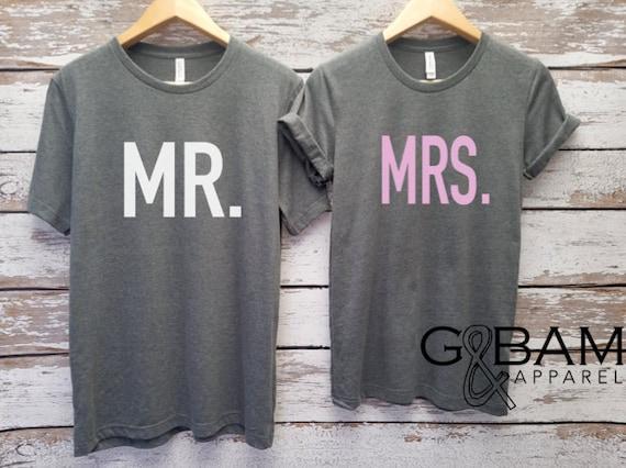 Mr. and Mrs. Shirts / Bride & Groom Shirts Unisex T-shirt / Groom shirt/ Bride Shirt / Future MR and MRS