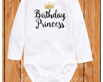 Birthday Princess body suit, new born body suit, baby, up to 3 years, birthday gift