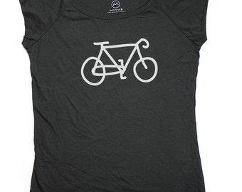 Ninus - Bicycle, Hand-printed Bamboo Women's T-Shirt