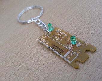 Upcycled Computer Keychain Unique Circuitboard