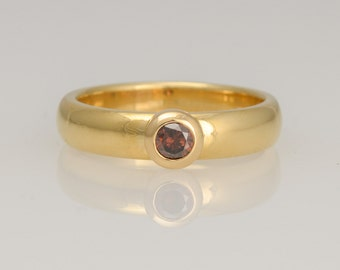 Ring • Diamond • Diamond • Rosé gold • red diamond • gold 18 K