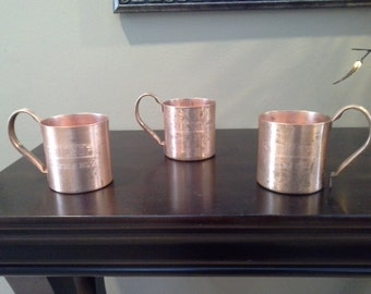 Vintage Smirnoff Moscow Mules a set of 3