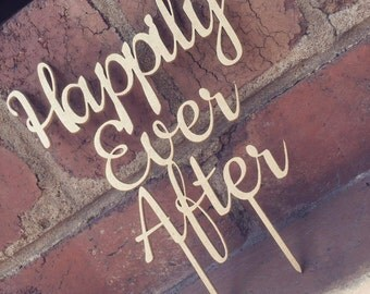 Happily Ever After Wedding Cake Topper - Cake Topper Cake Decoration