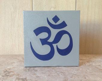 "6""x6"" Om Symbol on Canvas"