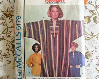 PRICE REDUCED~1976 Dress and Top Pattern ~ McCall's 5179 ~ Carefree Pattern