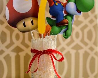 Mario Party Supplies Super Mario Birthday Party Super Mario Cake Mario Kart Mario Wii Super Paper Mario Super Mario Bros Video Game Party