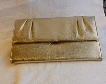 Metallic Gold Clutch