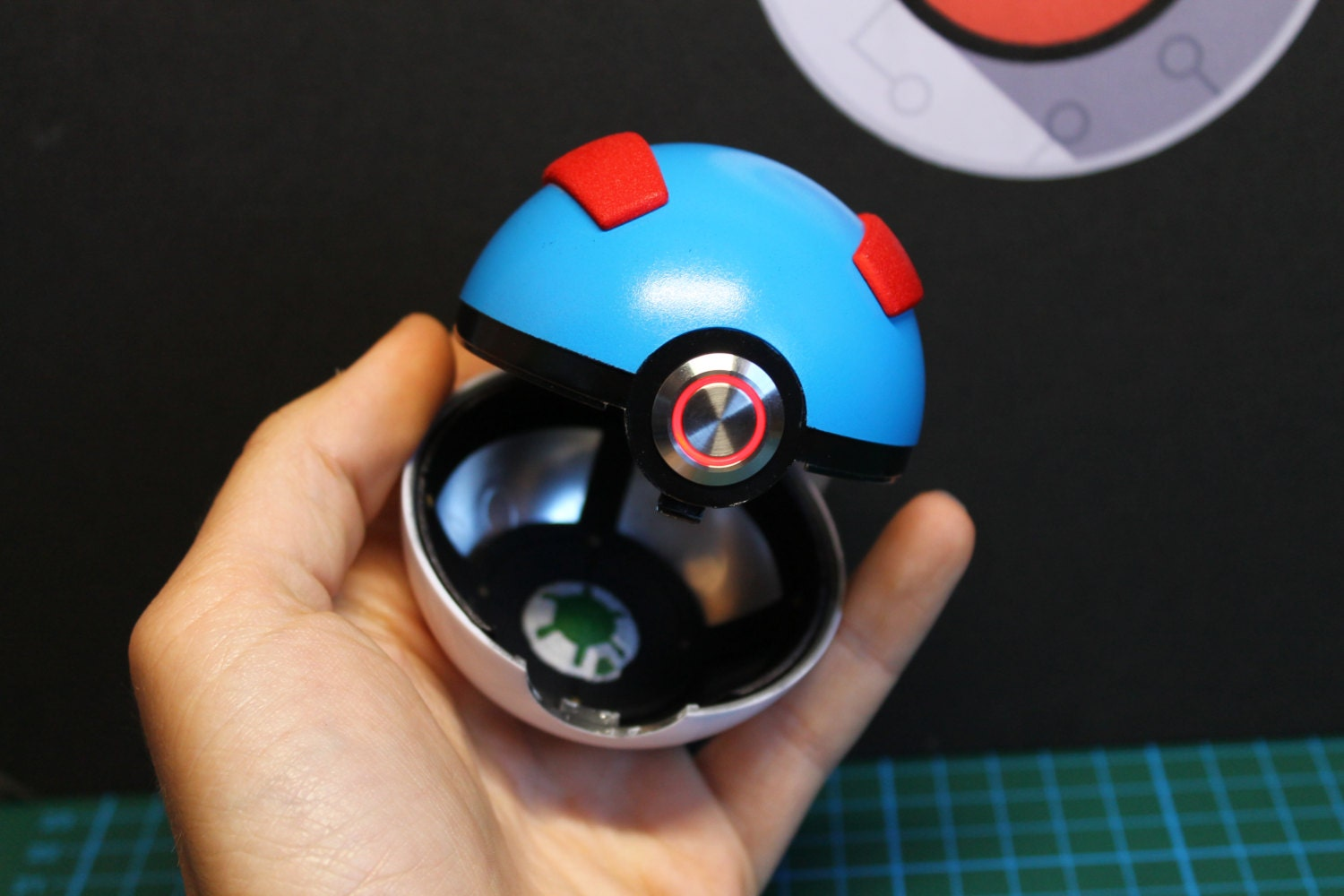 how to make a pokeball prop