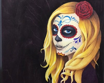 Sugar Skull Girl - Print (original also available)