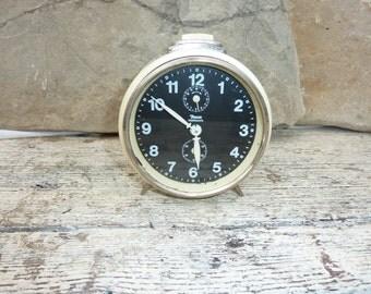 Vintage Insa Deco Alarm Clock Cream Yugoslavia Retro Clock Working Wind Up Clock