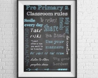 Class Rules Poster  - CUSTOMISED
