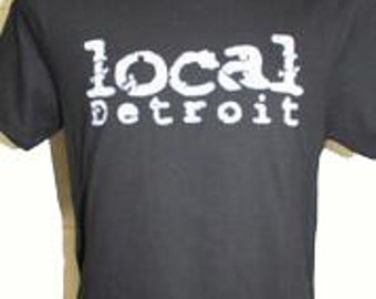 The Unisex Local Detroit Black T-shirt Made in USA / 10% proceeds go to Amer Cancer Society Fund