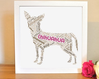 Printable Chihuahua For Dog Lovers | Instant Download Word Art | Digital File