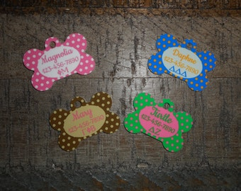 Pet Tags Personalized - Sorority / Panhellenic / Preppy / Greek / Pet Tags / Dog Tags / Cat Tags / Dog ID Tags / Cat ID Tags / Pet Id Tags /