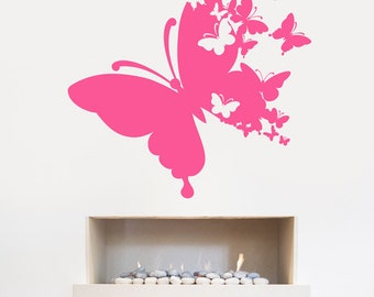 Butterfly Wall Sticker, Abstract Butterflies - Art Vinyl Decal Transfer - by Rubybloom Designs