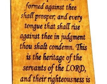 Isaiah 54:17, Scripture Verse