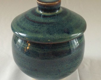 Small Lidded Ceramic Jar
