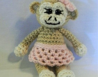 Millie the Monkey - crochet amigurumi stuffed toy