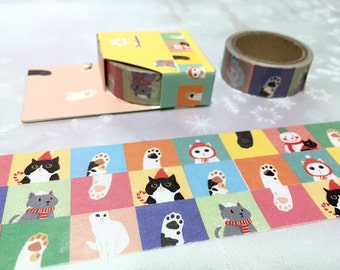 Cat tape 5M Cute cat washi tape funny cat kawaii pussy cat baby cat fat cat sticker tape cat planner diary scrapbook meow meow gift decor
