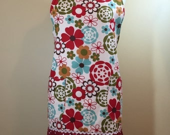 Woman's Apron - Flower's and Earth Tone's