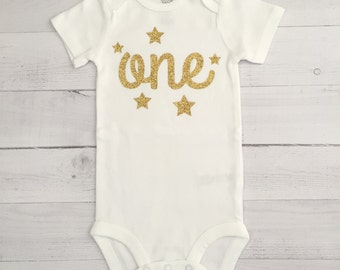Twinkle Twinkle Little Star Birthday Shirt/Baby Girl Bodysuit/Clothing with Age