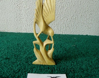 Natural Wood Bird - Beautiful - Hand Carved