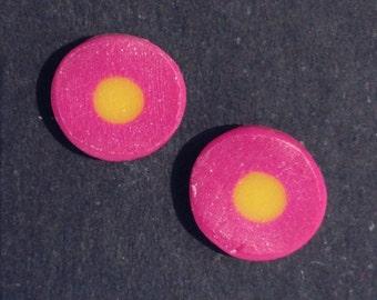 Polymer clay ear studs