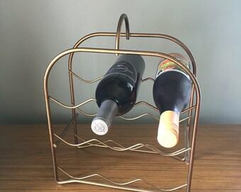 Mid century wine rack - bottle holder
