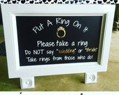 Bridal Shower Sign - Small Table Top Chalk Board Sign