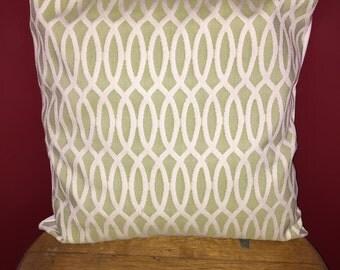 "Hand-Made Mint & Ivory 18""x18"" Pillowcase"