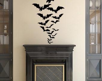 halloween wall decal etsy - Halloween Window Decals
