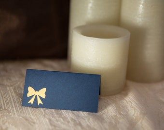 Wedding Place Cards, Winter Table Cards, Wedding Place Cards, Winter Wedding Place Cards, Bow Place Cards, Wedding Escort Cards, Place Cards