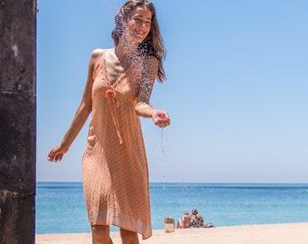 Putri Sundress, Beach Dress, Sundress, Summer Dress, Womens Sundress, Coral Dress