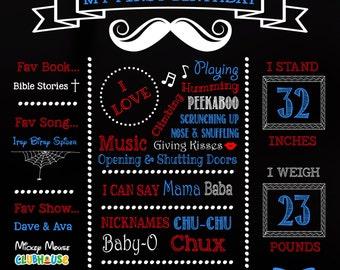 Mustache boy First Birthday Board, Mustache Sign, 1st Birthday Sign, First Birthday Sign, Mustache, Birthday Poster
