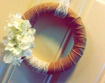 SALE ***handmade vintage wreath!