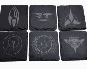 The Final Frontier Slate Engraved Coaster Set