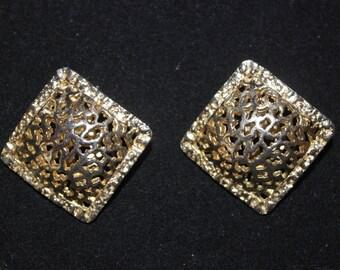Goldtone Clipon Earrings signed WEST