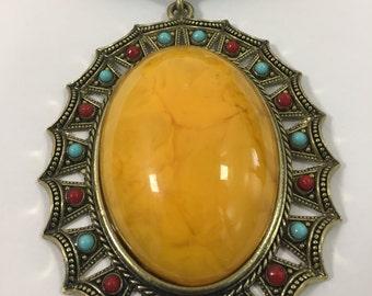 Yellow & Blue Kenya Necklace