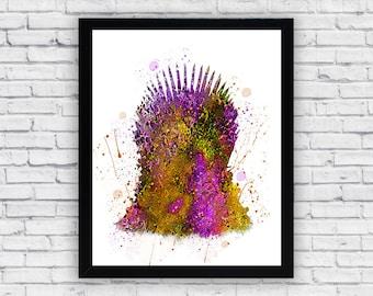 Games of Thrones Watercolor print, Games of Thrones Printable Wall Art, Games of Thrones poster