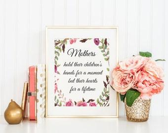 Mother's Day Printables, Mother's Day Printable, Mother's Day Gift, Mothers Day, Gifts for mom, Mothers hold their children's hands