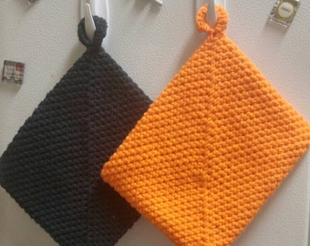 Halloween Themed Crocheted Double Sided Oven Mitts/Hot Pads/Pot Holders