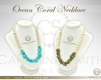 Ocean Coral Necklace by Carolina Smith Jewelry
