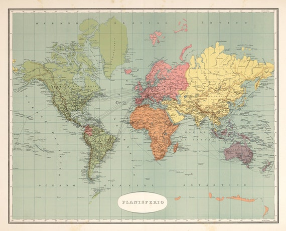World map printable digital downloadntage world map old world vintage world map old world map vintage art image instant digital downloadintable mapp digital from antiquedigitalprint on etsy studio gumiabroncs Image collections