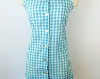 Vintage sailor girl mini dress, vintage sailor dress, nautical mini dress