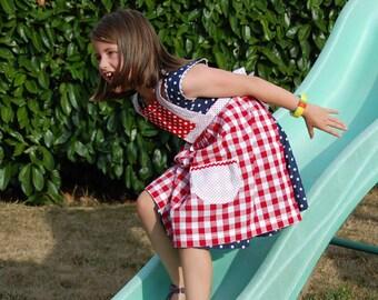Marysa: Apron Retro red child