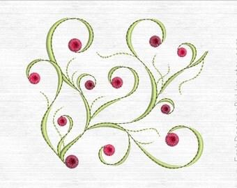Swirl Embroidery Design. Machine Embroidery Designs. Swirl embroidery border.